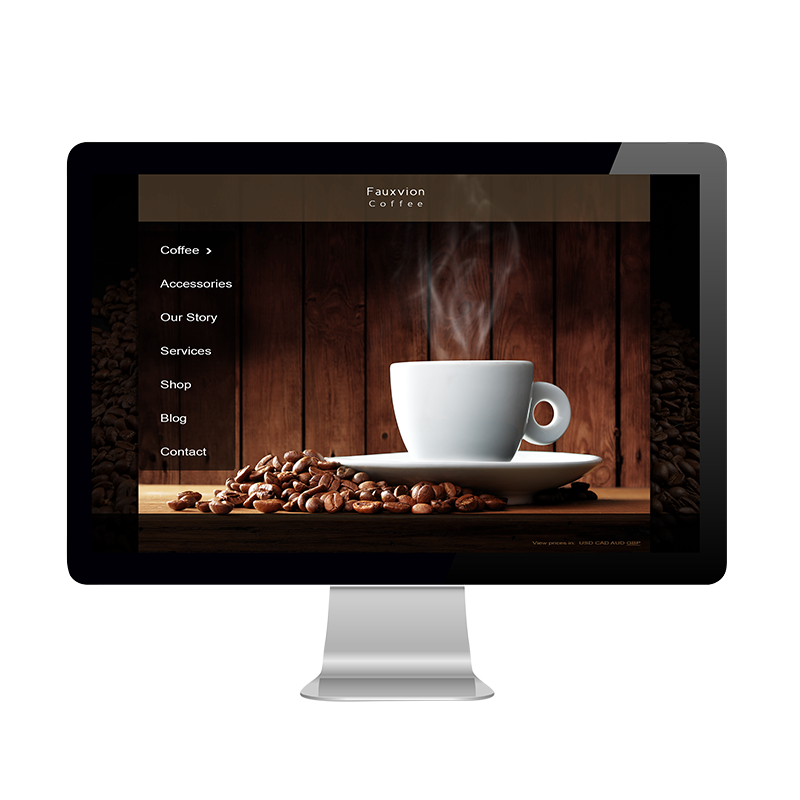 Fauxvion Coffee Website2